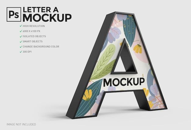 Progettazione di mockup di lettera a 3d