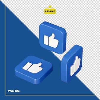 3d come icona su tutti i lati