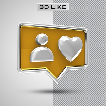 Rendering 3d come icona