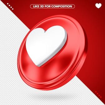 Icona 3d come Psd Premium