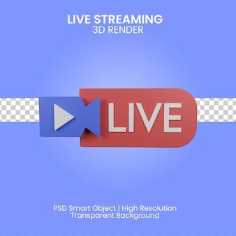 3d live streaming illustrazione isolata