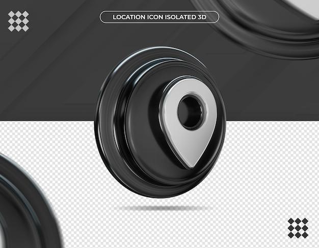 Icona di posizione 3d isolata
