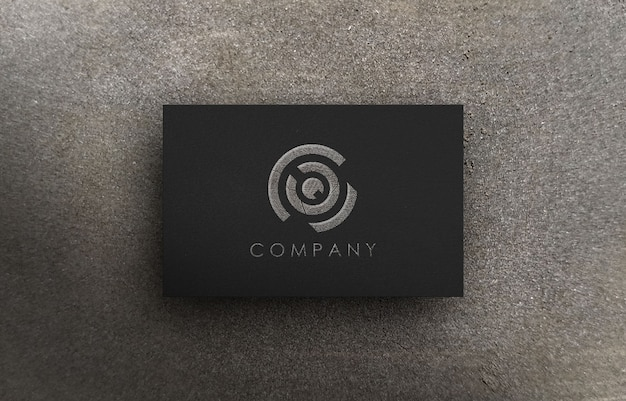 Mockup logo 3d per società di affari