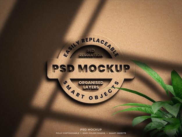 Progettazione di mockup del logo 3d