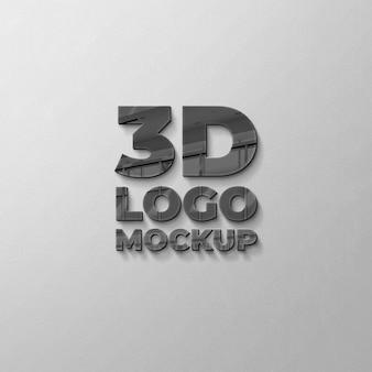 Mockup logo 3d sulla parete