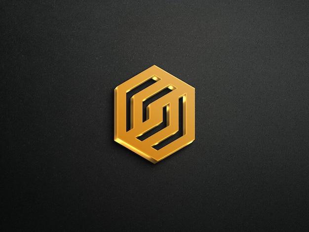 Mockup logo 3d con effetto dorato