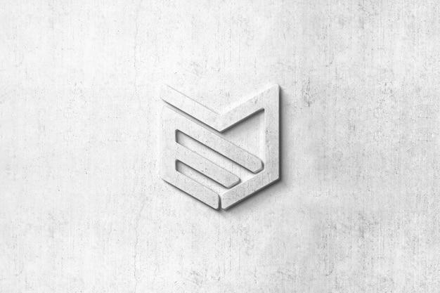 Mockup di logo 3d