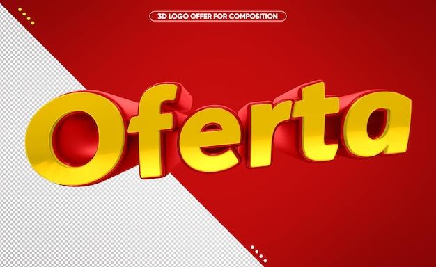 Logo 3d offerta per il trucco in brasile