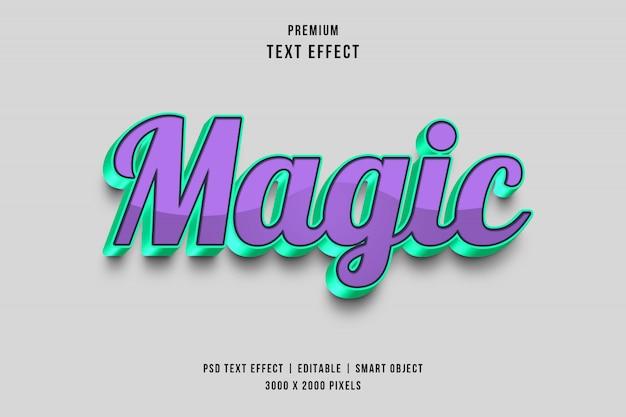 Effetto di testo magico 3d