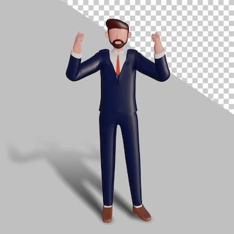 Tifo del personaggio maschile 3d.