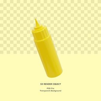Oggetto illustrativo della bottiglia di maionese 3d reso premium psd