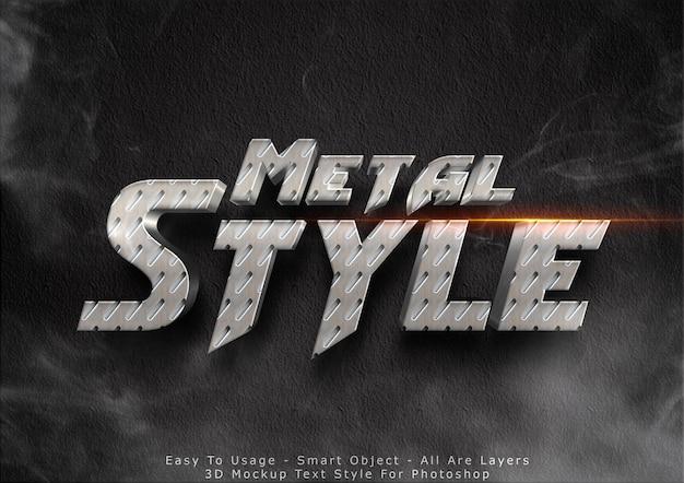 Effetto testo 3d in metallo Psd Premium