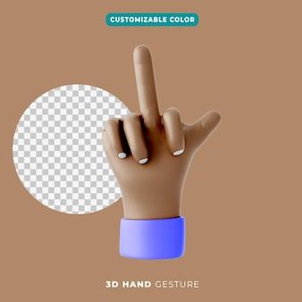 Gesto del dito medio 3d e icona pollice in alto