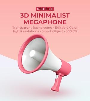 Creatore di scene del megafono minimalista 3d modificabile