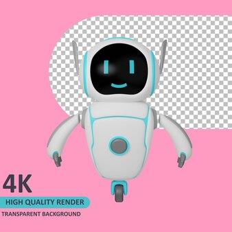 Modello 3d che rende il robot in piedi