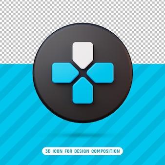 Icona del pulsante di spostamento 3d per la composizione del design