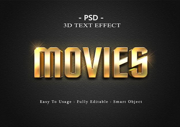 Effetto di stile di testo di film 3d