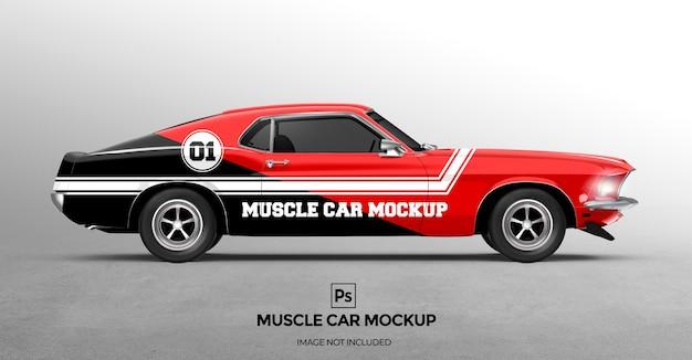 Presentazioni di progettazione di mockup di muscle car 3d