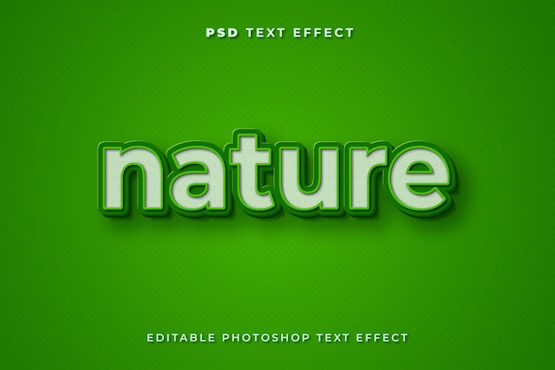 Modello di effetto testo natura 3d