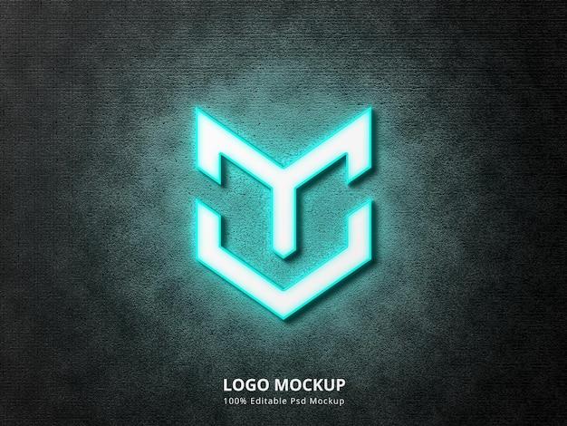 Modello di logo al neon 3d