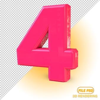 3d numero 4 tutti i colori pick