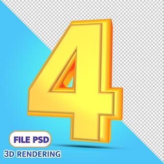 3d numero 4