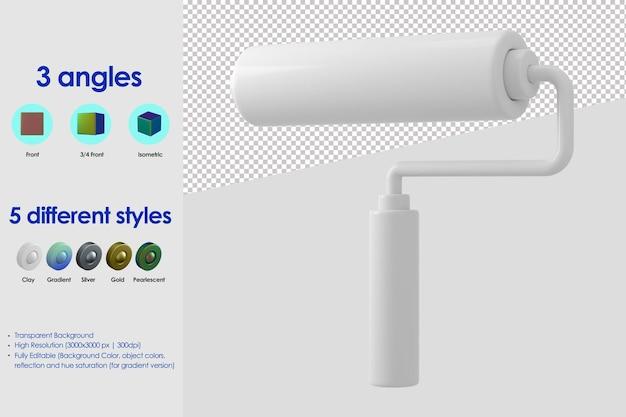 Icona del rullo di vernice 3d