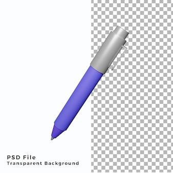 Illustrazione dell'icona della penna 3d file psd di alta qualità