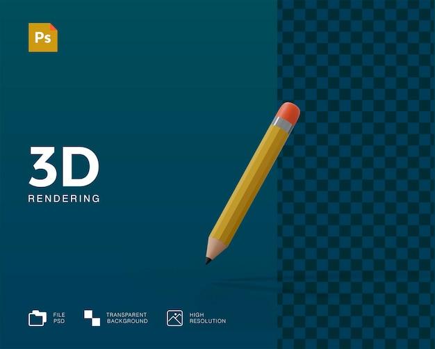 Rendering 3d matita isolato rendering
