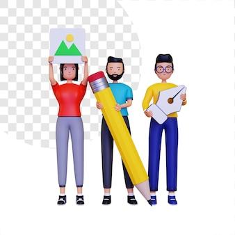 Persone 3d nella comunità del design