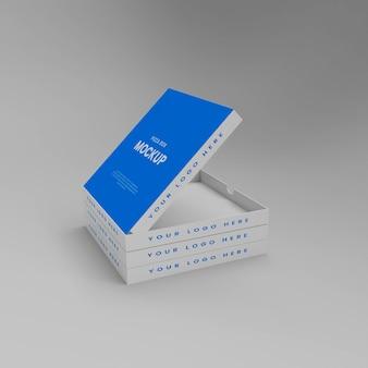 Mockup di scatola per pizza 3d