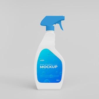 Mockup di flacone spray per lavaggio a mano in plastica 3d