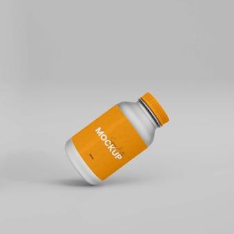 Bottiglia per integratori in plastica 3d mokup
