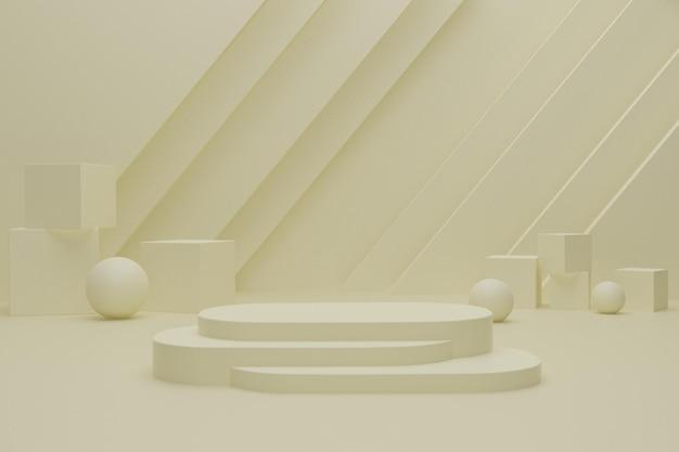 Scena del podio 3d per la pubblicità del prodotto