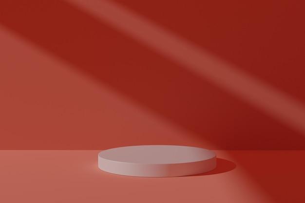 Podio 3d con ombra astratta per la visualizzazione del prodotto