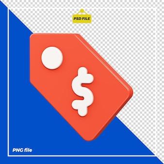 Design del cartellino del prezzo 3d