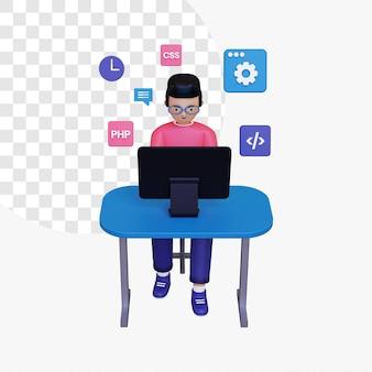 Programmazione 3d con icone di programmazione