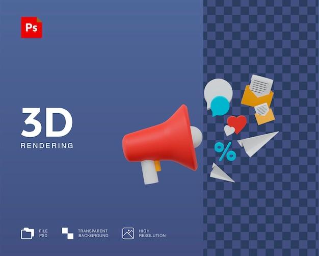 Illustrazione di promozione 3d