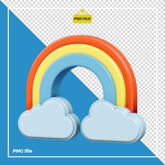 Disegno dell'icona arcobaleno 3d