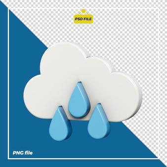 Design 3d di icone piovose