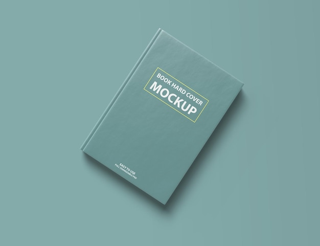 Mockup con copertina rigida del libro realistico 3d