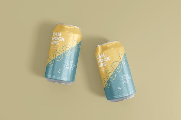 Mockup di latta realistica 3d