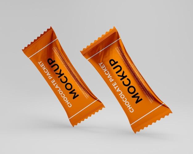 Modello realistico del pacchetto del cioccolato 3d isolato