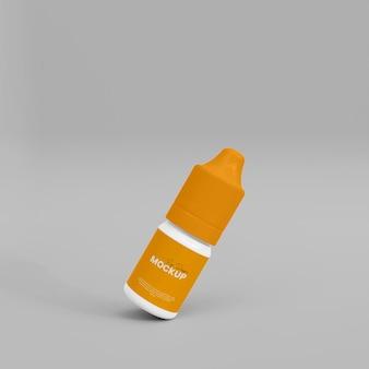Mockup di contagocce 3d realistico