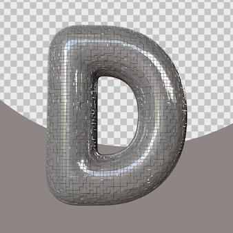 Lettera realistica 3d