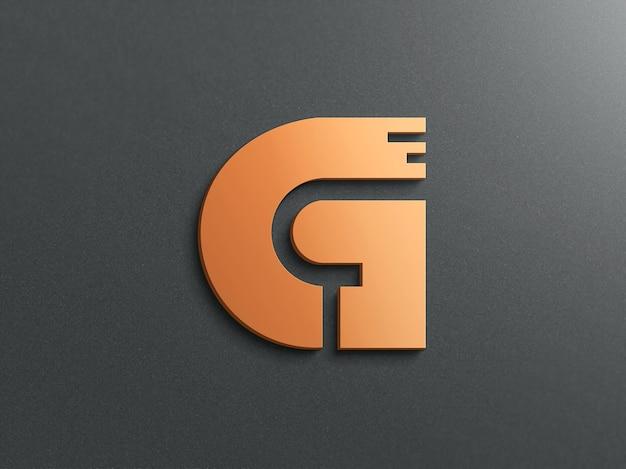 Mockup logo realistico 3d