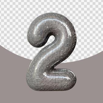 Numero realistico 3d isolato