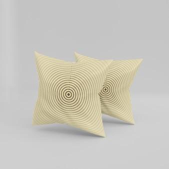 Design di mockup di cuscini realistici 3d