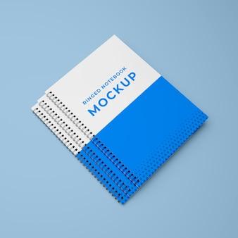 Mockup di quaderno ad anelli realistico 3d