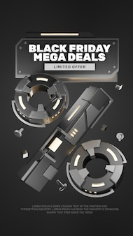 3d realistic steel look promozione black friday sconto vendita titolo